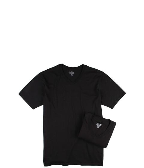 Tricouri Calvin Klein - Big & Tall Basic V-Neck 2-Pack - Black
