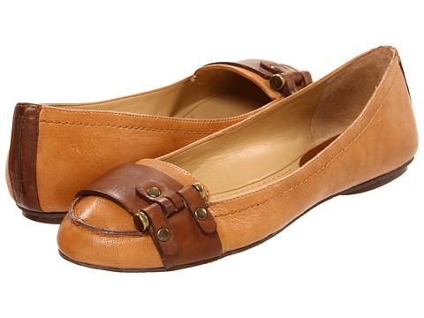 Balerini Nine West - 7Calax - Natural/Medium Brown Leather