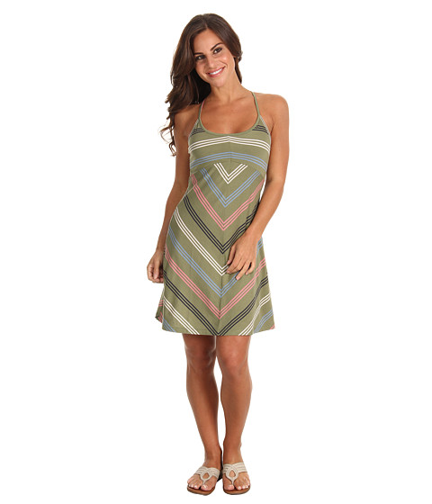 Rochii Patagonia - Spright Dress - Narrow Stripe/Spanish Moss