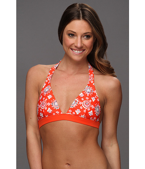 Costume de baie Patagonia - Print Boucau Halter Top - Indian Swim Bandana/Paintbrush Red
