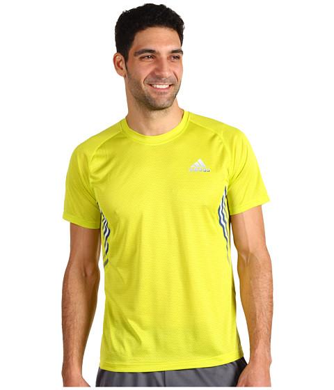 Tricouri adidas - ClimaSpeed Mesh S/S Tee - Lab Lime/Dark Blue