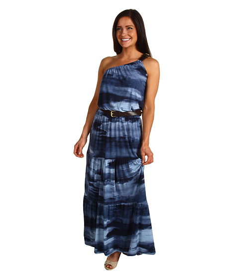 Rochii Michael Kors - Indonesian Wash Belted Maxi Dress - Washed Indigo