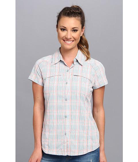 "Camasi Columbia - Silver Ridgeâ""¢ Multiplaid S/S Shirt - Hot Coral Mini Check Plaid"