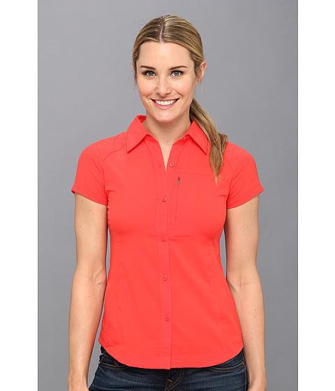 "Camasi Columbia - Silver Ridgeâ""¢ S/S Shirt - Red Hibiscus"