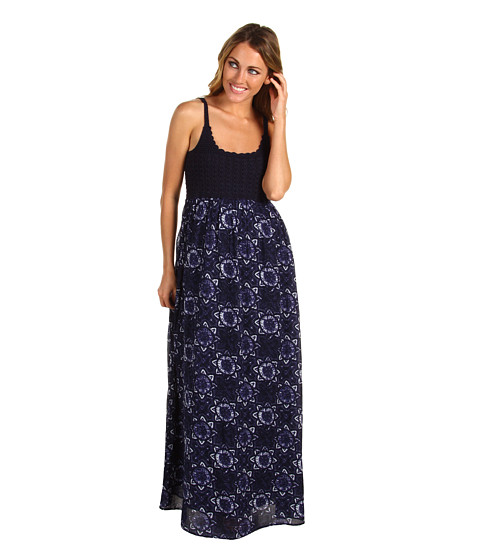 Rochii Lucky Brand - John Robshaw Courtney Maxi Dress - Navy Multi