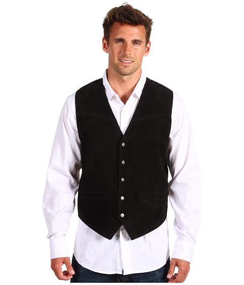 Jachete Roper - Suede Vest with Buckle Back - Black