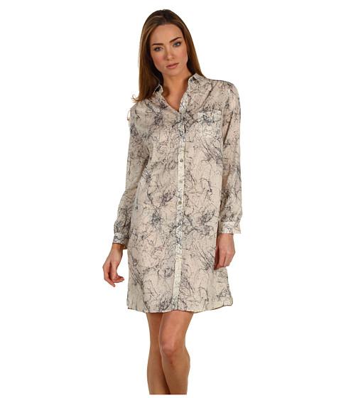 Rochii Paul Smith - Web Print Shirtdress - Ecru