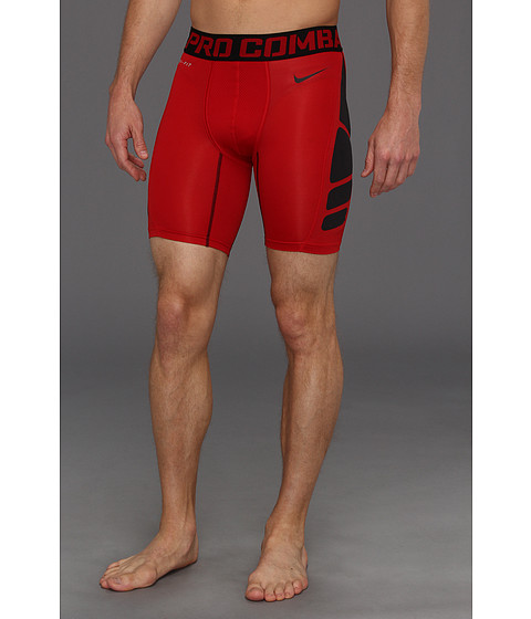Pantaloni Nike - Pro Combat Hypercool Compression 6-Inch Short 1.2 - Gym Red/Black/Black
