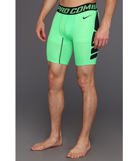 Pantaloni Nike - Pro Combat Hypercool Compression 6-Inch Short 1.2 - Poison Green/Dark Obsidian/Dark Obsidian