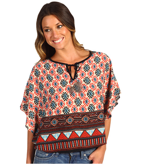 Tricouri Christin Michaels - Larie Blouse - Red Tribal
