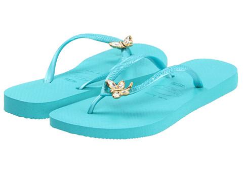 Special Vara Havaianas - Slim Crystal Dragonfly Flip Flops - Ocean Green