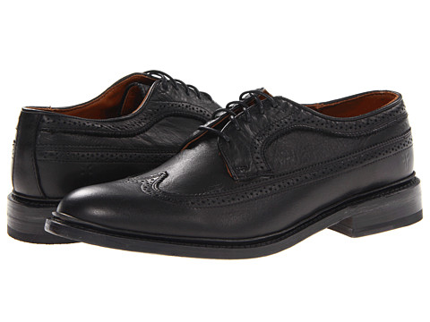 Pantofi Frye - James Wingtip - Black Soft Vintage Leather