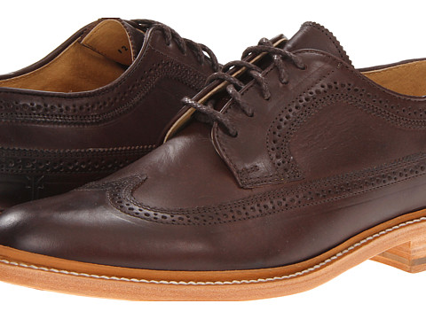 Pantofi Frye - James Wingtip - Dark Brown/Smooth Full Grain