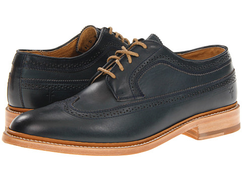 Pantofi Frye - James Wingtip - Navy Smooth Full Grain