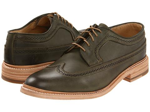 Pantofi Frye - James Wingtip - Olive
