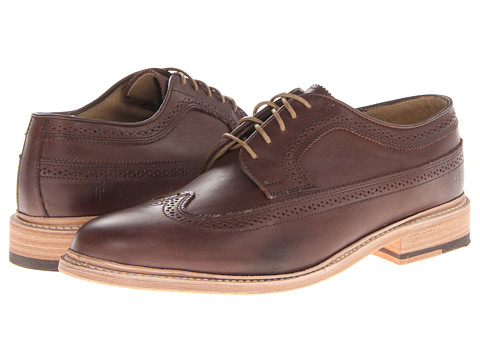 Pantofi Frye - James Wingtip - Dark Brown/Veg Tan