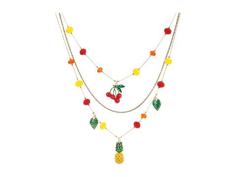 Diverse Betsey Johnson - Rio Toc Parrot Charm Illusion Necklace - Multi