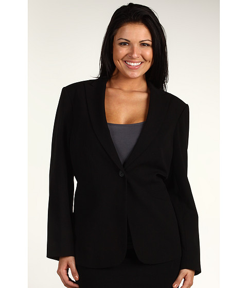 Sacouri Calvin Klein - Plus Size Single Button Jacket - Black