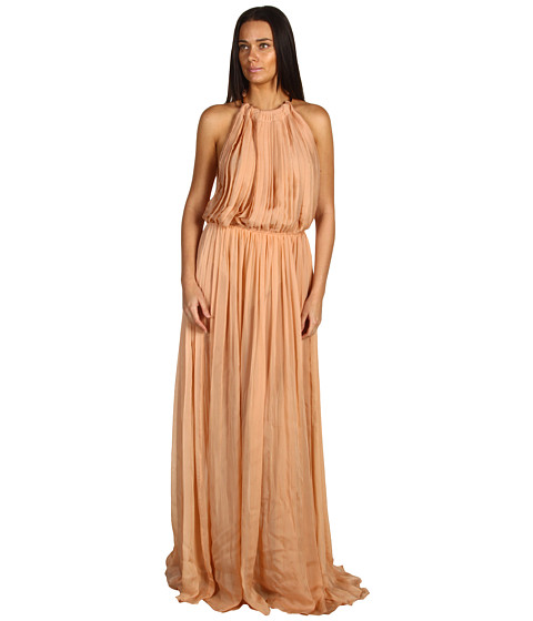 Rochii Just Cavalli - Silk Chiffon Pleated Gown - Antique Rose