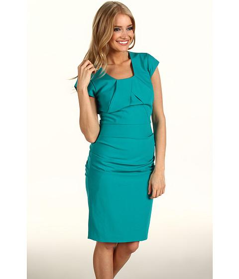 Rochii BCBGMAXAZRIA - Joana Pleated Shift Dress - Bright Emerald