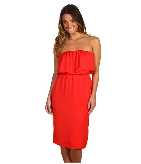 Rochii BCBGMAXAZRIA - Malia Strapless Dress - Red Berry