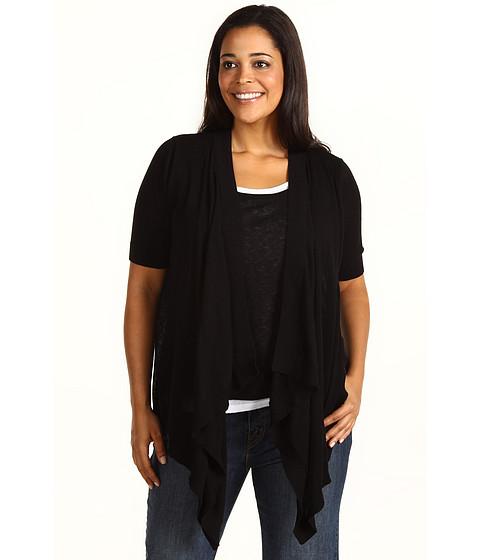Tricouri Michael Kors - Plus Size 3-fer Drape Front Sweater - Black