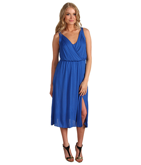 Rochii BCBGMAXAZRIA - V-Neck Jersey Dress - Blue