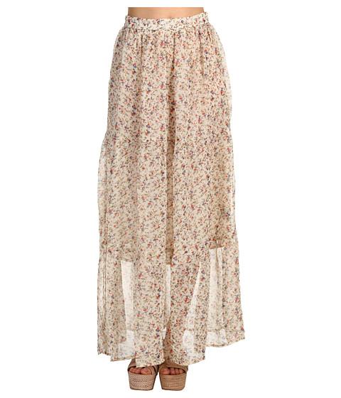 Fuste Brigitte Bailey - Trixie Maxi Skirt - Taupe Flower