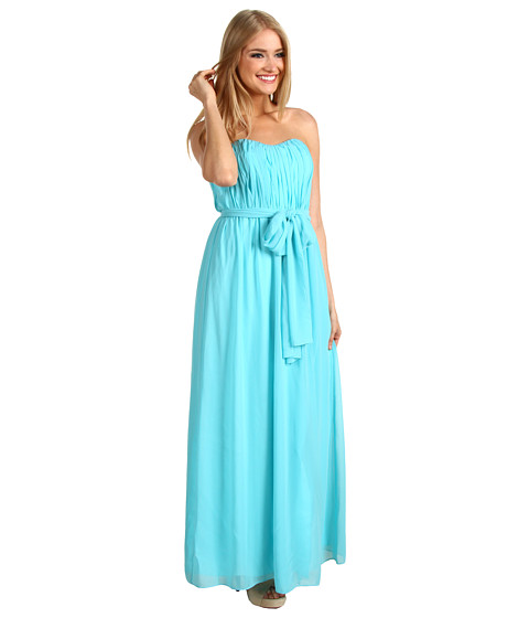Rochii Donna Morgan - Grace Sweetheart Ruched Bodice Gown - Crystal Water