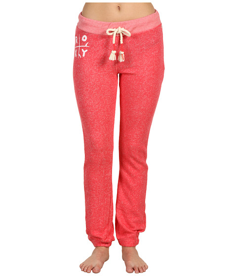 Pantaloni Roxy - Single Fin Crop Fleece Pant - Hibiscus