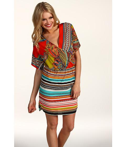 Rochii Donna Morgan - Mock Wrap Top Elastic Waist Dress - Original Multi
