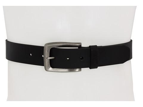 Curele John Varvatos - 38mm Strap - Black Leather/Nickel