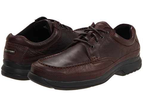 Pantofi Rockport - Barrow Loft Banni - Dark Brown Leather