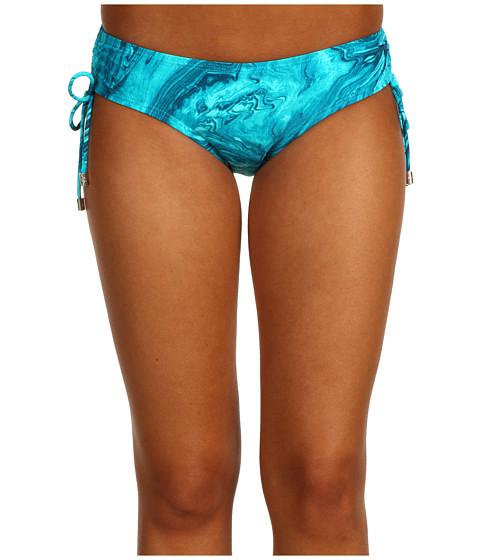 Costume de baie Michael Kors - Ocean Front Shirred Hipster Bottom - Tile Blue Multi