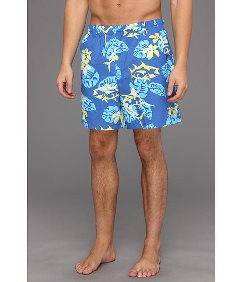 Pantaloni Columbia - Backcastâ⢠Printed Short - Vivid Blue Jungle Fish Print