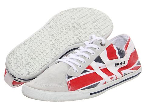 Adidasi Gola - Quota Union Jack - White/Navy/Red