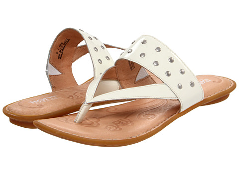 Sandale Born - Krysten - Cream Patent Leather