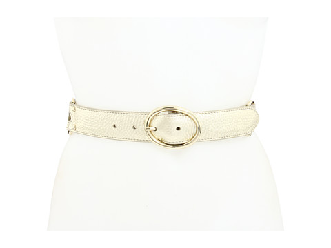 Curele Cole Haan - Double Ring Belt - White Gold