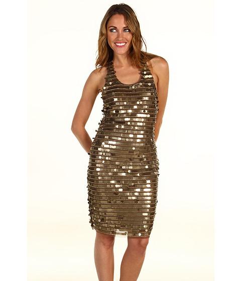 Rochii BCBGMAXAZRIA - Iman Bronze Coin Dress - Bronze Combo