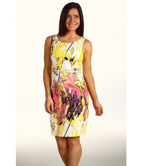 Rochii Calvin Klein - Petite Vertical Seamed Dress - Violet/Hydrangea Multi
