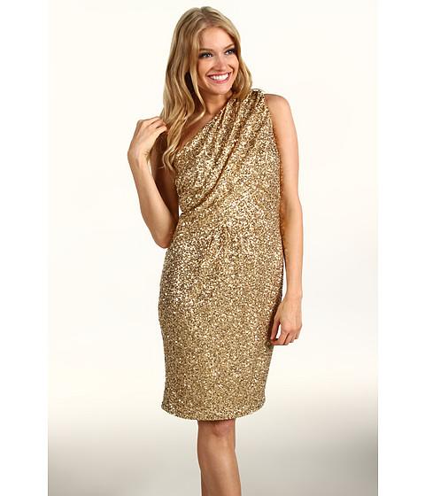 Rochii Calvin Klein - Sequin One-Shoulder Dress - Gold