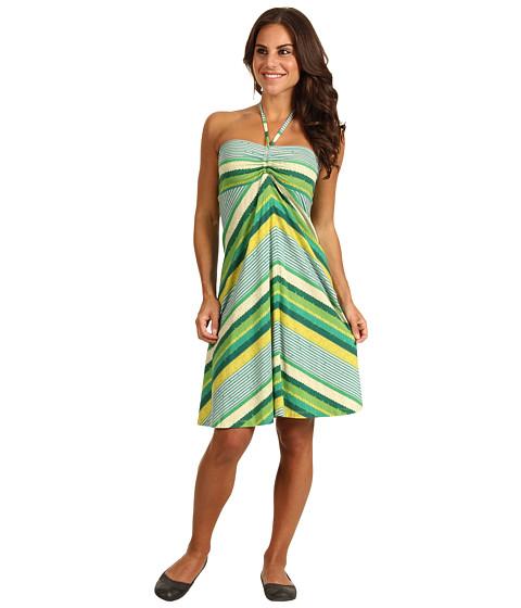 Rochii Patagonia - Kamala Convertible Dress - Nakashima Stripe/Teal Green