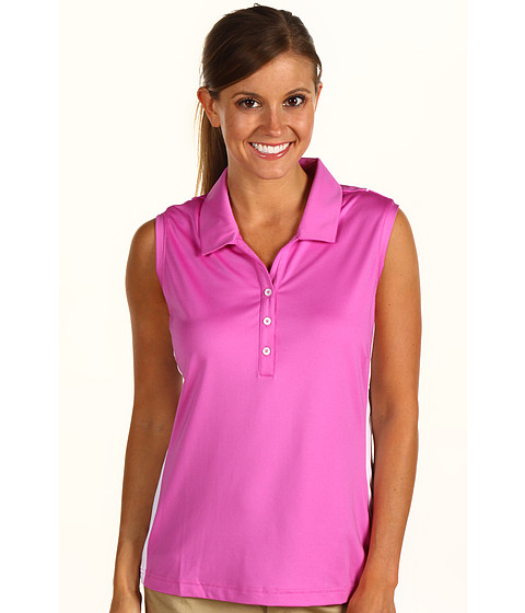 Bluze adidas Golf - ClimaCoolÃ'® Piped Colorblock S/L Polo - Hibiscus/White