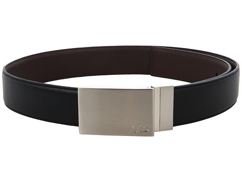 Curele Lacoste - Reversible Feather Edge Strap With Stitch - Black/Brown