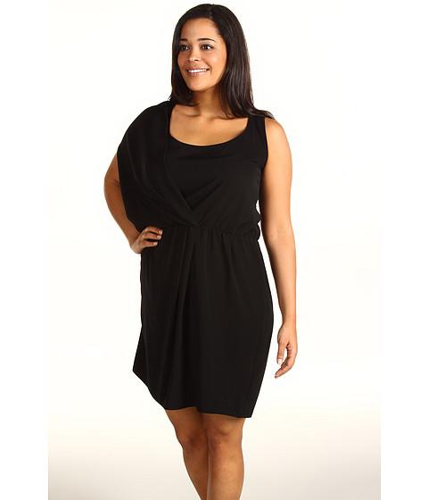 Rochii DKNY - Plus Size Asymmetrical Racerback Dress - Black