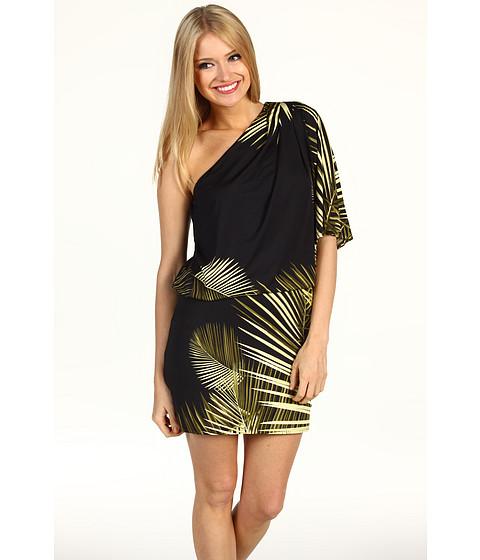 Rochii Jessica Simpson - Palm Print One Shoulder Mini Dress - Palm/Black