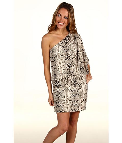 Rochii Jessica Simpson - Python Print One Shoulder Mini Dress - Black/Cream