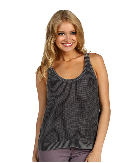 Tricouri Free People - Snuggle Swit Top - Washed Charcoal