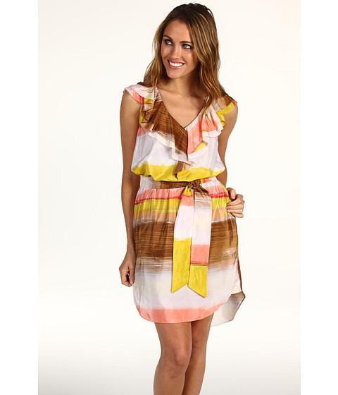 Rochii Jessica Simpson - V-Neck Ruffle Dress w/ Shirttail Hem - Sunset