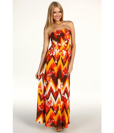 Rochii Lucky Brand - Melanie Tribal Maxi Dress - Orange Multi